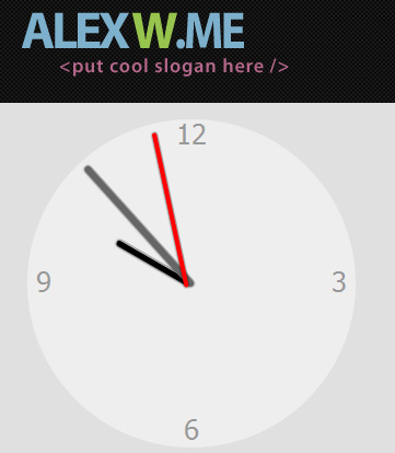 Pure CSS3 analog Clock, almost no JS | Altryne's Blog