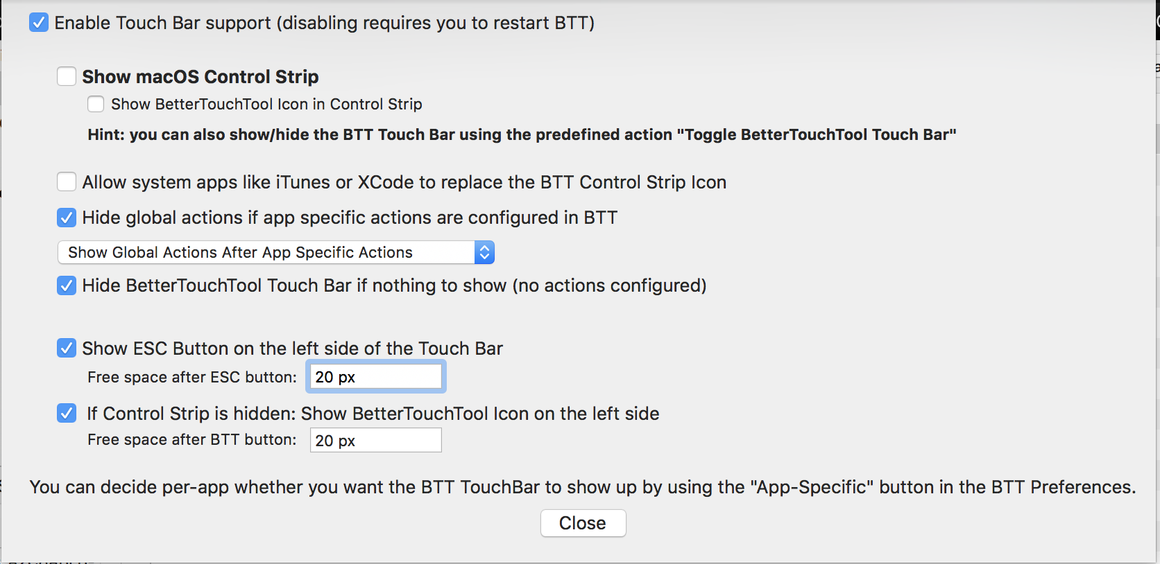 Customize the new Touch Bar feature with BTT | Altryne's Blog